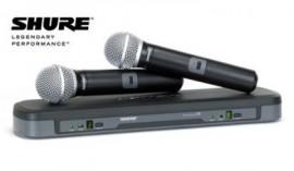 Micrófonos Inalámbricos SHURE BLX288/PG58 de Mano Doble